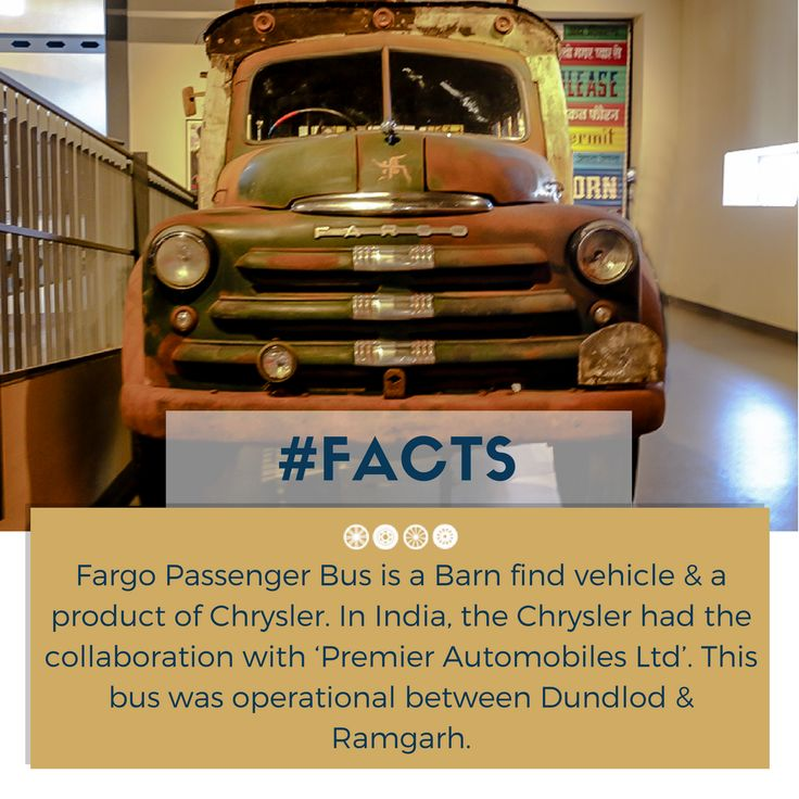 A 1956 Fargo Bus displayed at the museum! #facts #vintagevehicle #vintagetransport #vintagecollection #transportmuseum #incredibleindia