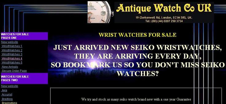 Vintage Wrist Watches- http://www.antiquewatchcouk.com