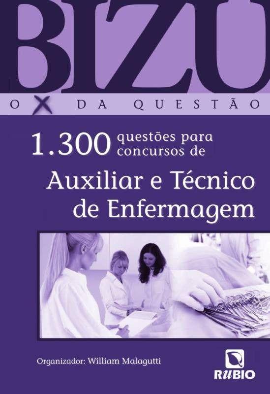 livro bizu o x da questao auxiliar e tecnico de enfermagem