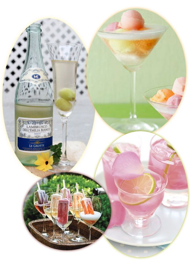 summer cocktails and drinks recipes roundup - vodka, Prosecco, wine