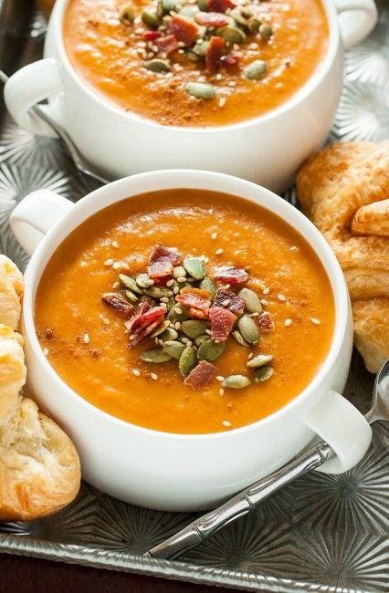 Slow Cooker Carrot Butternut Soup | 25+ Paleo Crockpot Soups