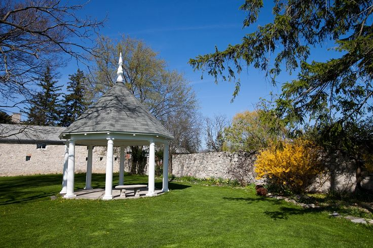 The gardens by Ruthven Park's gazebo offer colour throughout the seasons.