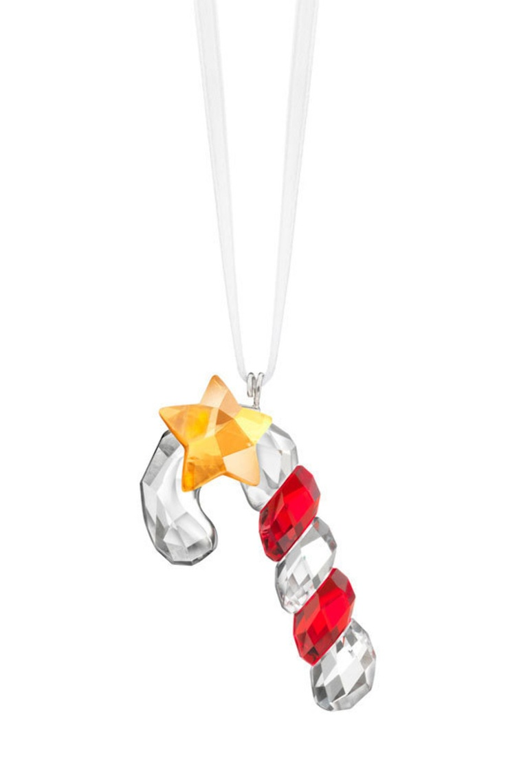 Glass candy cane ornaments - Swarovski Christmas Ornament Sparkling Candy Cane Shiny And Sweet The Swarovksi Crystal Candy Cane Ornament Features Ribbons Of Holiday Red And A Dangling