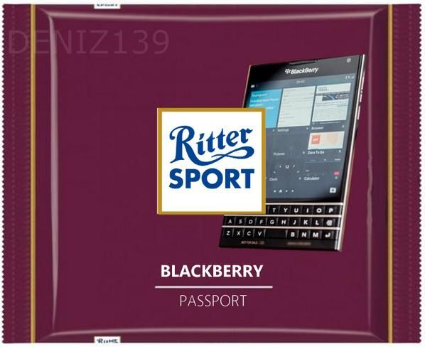 RITTER SPORT Fake Schokolade Blackberry