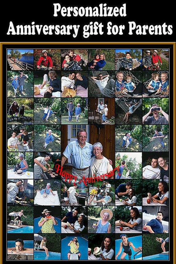 84 Best Anniversary Collage Images On Pinterest Personalized Photo Gifts 50th Anniversary
