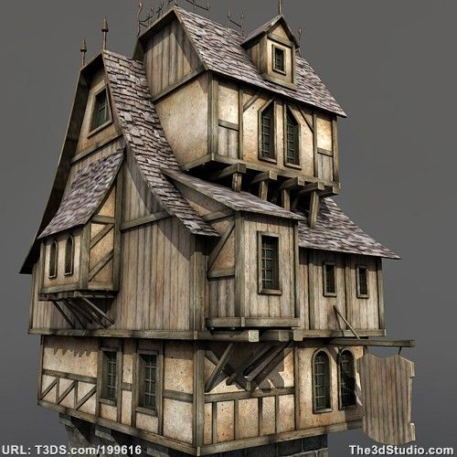 3d Models Medieval House Animation Pinterest House