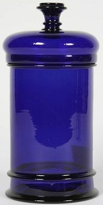 Blown Cobalt Glass Apothecary Jar | France, 19th Century