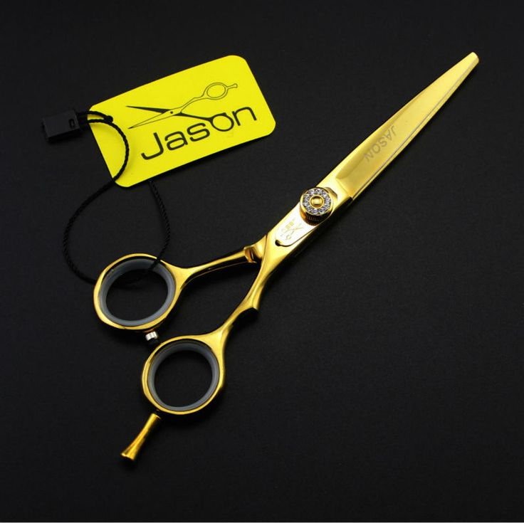 Free Shipping  6inch Gold  Professional Pet grooming scissors sets 2pcs Straight &Curved Shearwith comb and Purses