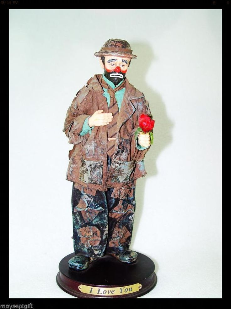 vtg emmett kelly clown 1991 circus collection i love you