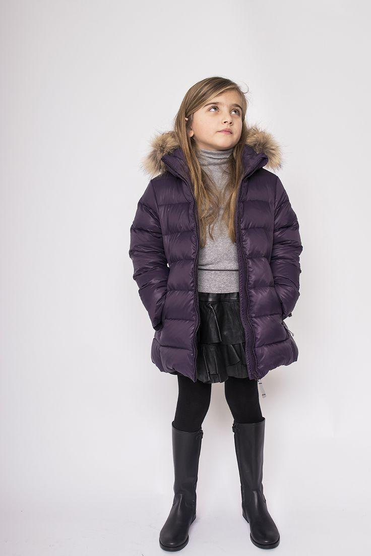 Ver de Terre girls down jacket with fur - online august 2017. www.livarosa.dk