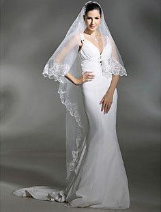Uma camada de véu do casamento catedral de comprimento (ts05... – BRL R$ 39,34