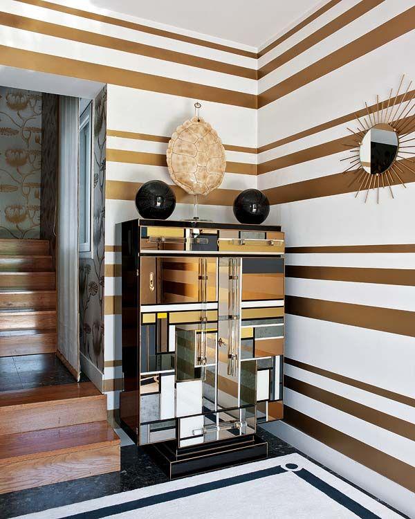 25 Cool Chevron Interior Design Ideas: 25+ Best Ideas About Gold Striped Walls On Pinterest