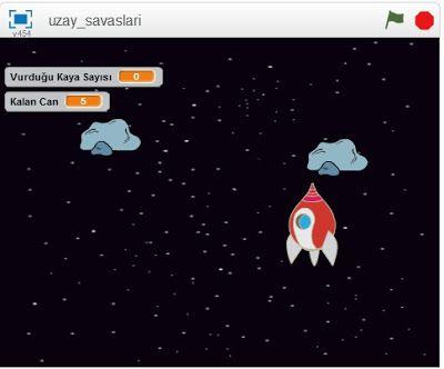 Bt ve Yazilim Dersi: Uzay Savaşları - Scratch