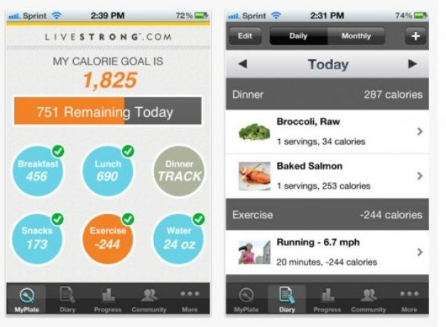 Fitness App: LiveStrong has become a powerhouse of a brand, so it's no surprise they now have apps. There are several to choose from, including one that offers tools for nutrition (including a calorie counter and meal planner), and others that focus on fitness and health broken down by gender. You can also click and drag the path of your run/bike ride/walk on a Google map, and figure out how many calories you burned. Smokers looking to quit can use the MyQuit Coach feature.Available
