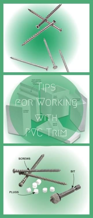 Tips for Working with PVC Trim: Treat it right and PVC trim will last forever. Use these tips for installing PVC trim the right way. http://www.familyhandyman.com/carpentry/trim-carpentry/tips-for-working-with-pvc-trim