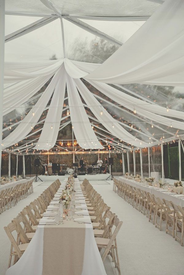 another clear tent w/drape