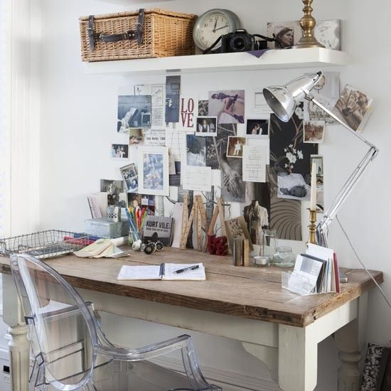 Rustic home office | Country style home office ideas | Home office | PHOTO GALLERY | Ideal Home | Housetohome.co.uk