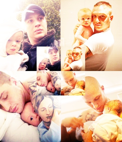Tom Hardy with his son Louis ❤