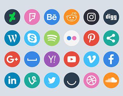 60 Free Social Circle icons