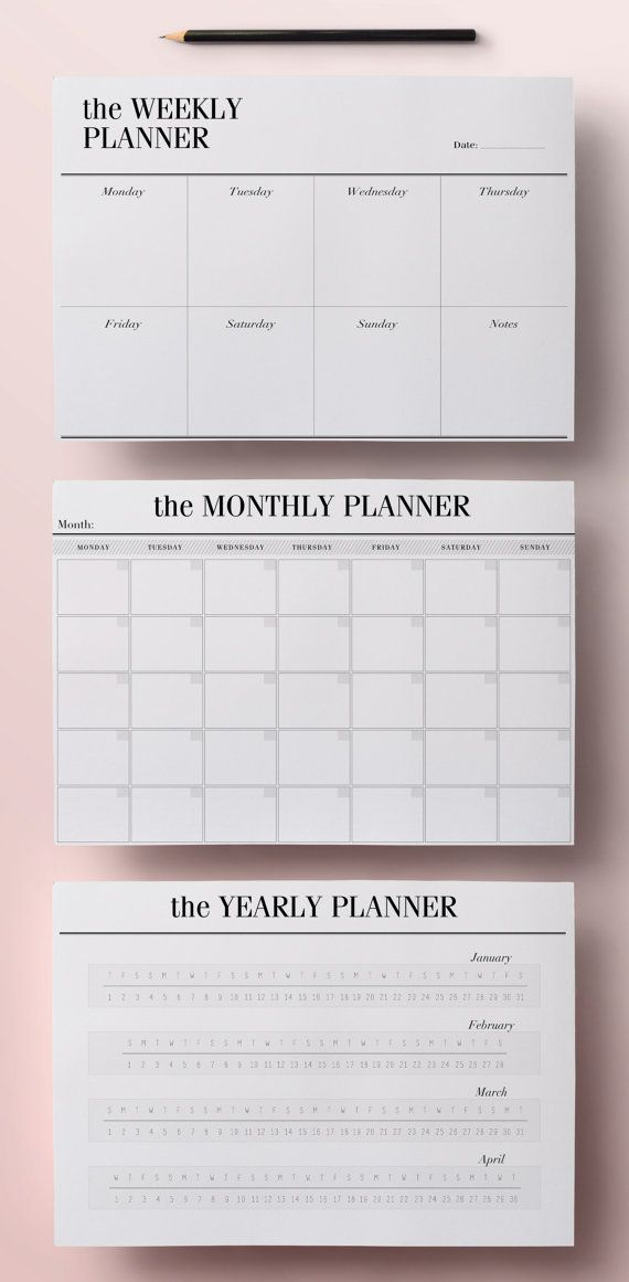 Planner Printable A5 Pack 13 Modern by CrossbowPrintables on Etsy