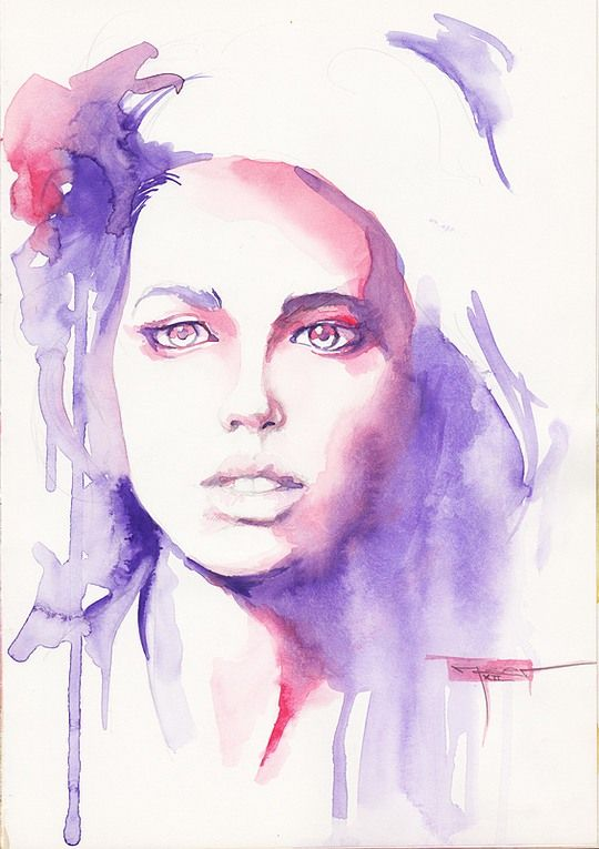 25 best ideas about watercolor portraits on pinterest for Pretty watercolor pictures