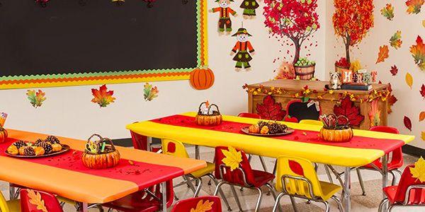 Addobbi autunno aule scuola infanzia