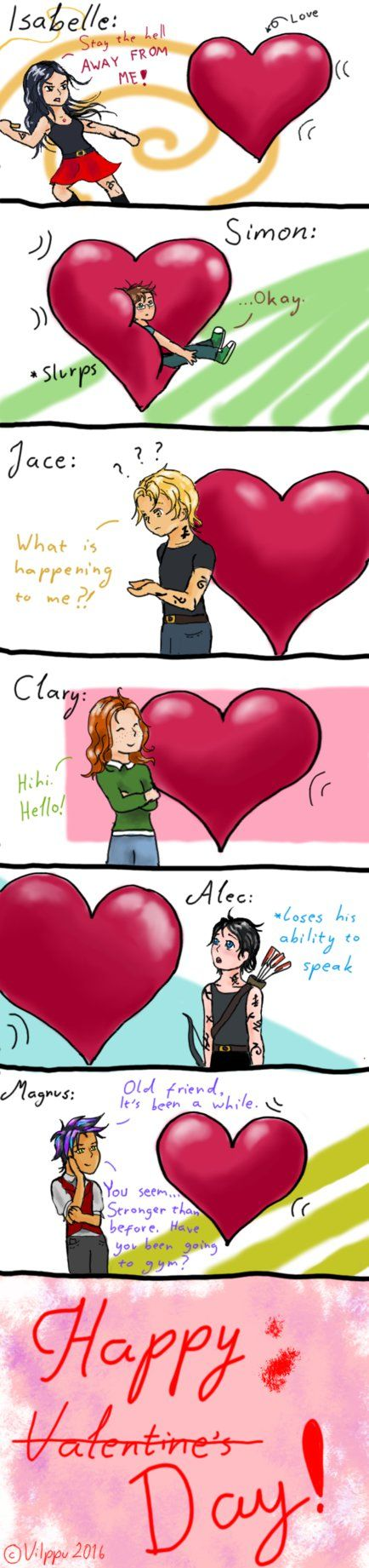 Shadowhunters and Love | with Isabelle Simon Jace Clary Alec and Magnus | #TMI
