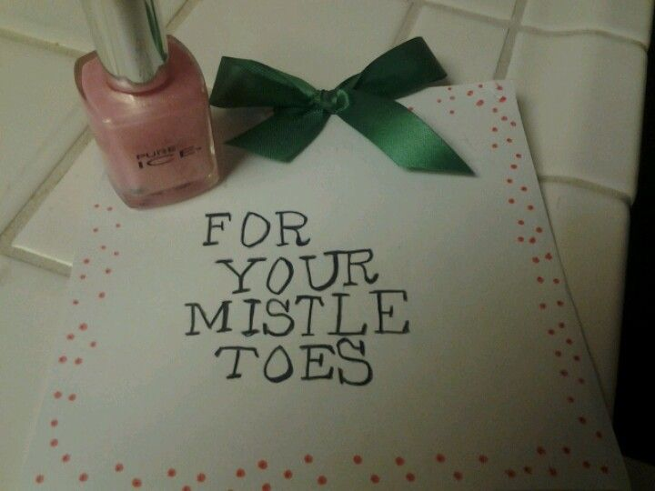 Good secret Santa gift idea. Such a easy inexpensive and cute idea for female coworkers.