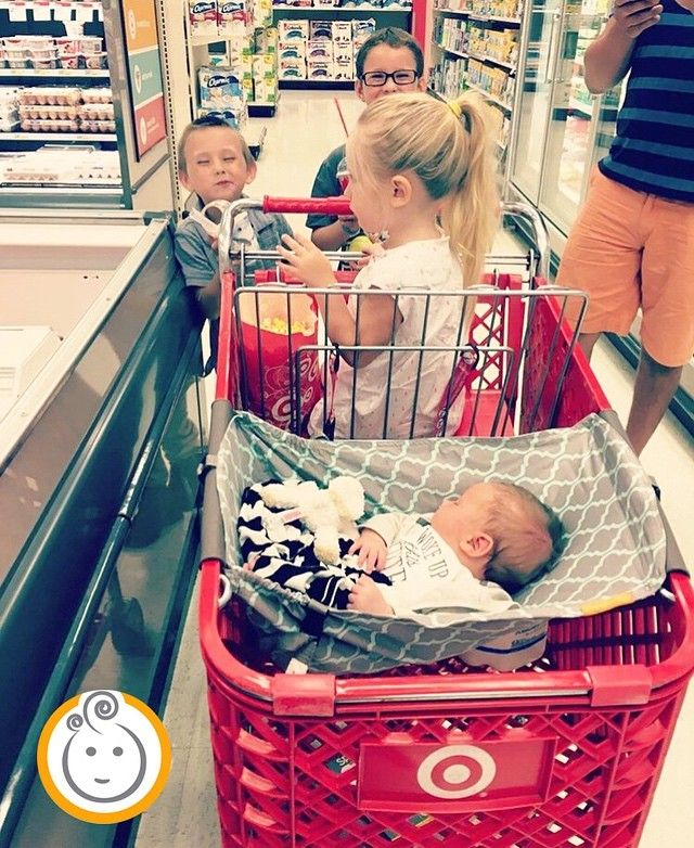 From Bethanycheal Because Shopping With Four Kids There Is No Room For A Car Seat I Love Our Shopbinxy Tons O