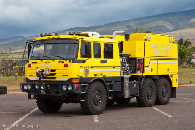 Maui County Fire Department apparatus trucks tanker Tatra SVI Super Vac