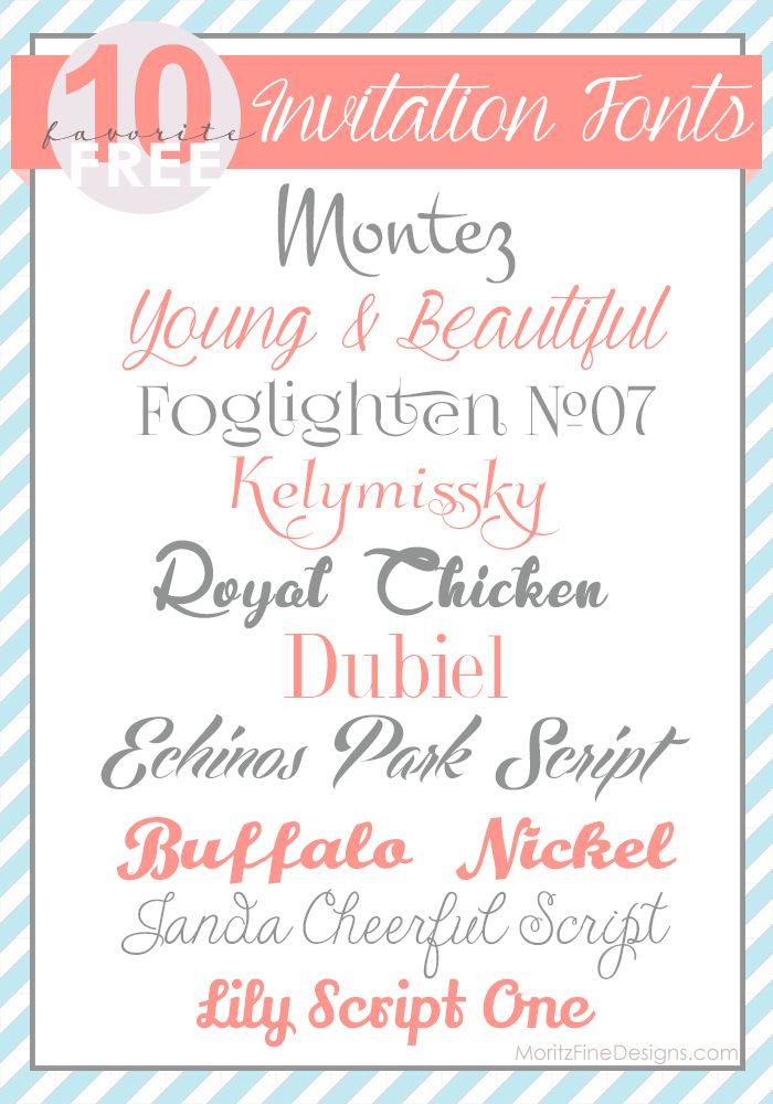 Unique Invitation Fonts Ideas On Pinterest Wedding - Birthday invitation fonts