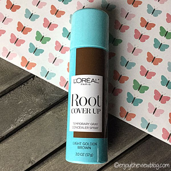 Grey hair happens: L'Oreal Root Cover Up - what's a girl to do when the grey is showing through and it's not time for a salon visit yet? Try a root cover up spray like L'Oreal! #hair #haircare #coverthegrey #greyhair #rootcoverup #beauty #beautyblogger #enjoytheviewblog