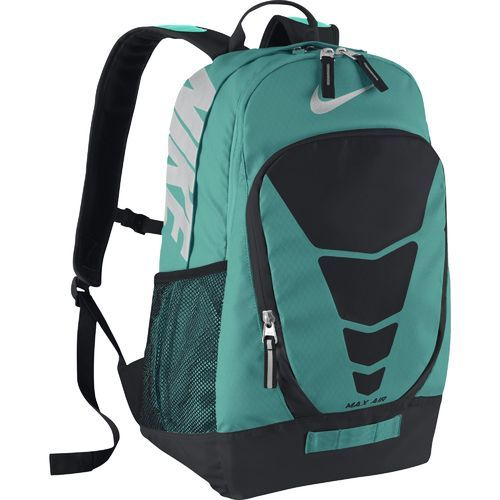 The Nike™ Vapor Max Air Backpack is made of water-resistant polyester and features a laptop sleeve.