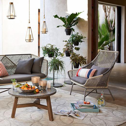 Huron Large Lounge Chair + Cushion – Gray | west elm
