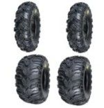 2 Front (25X8-12) & 2 Rear (25X10-12) ATV Mud Rebel Tires – cheap Atv tires reviews