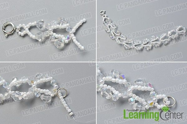 make the rest part of the crystal glass bead bracelet