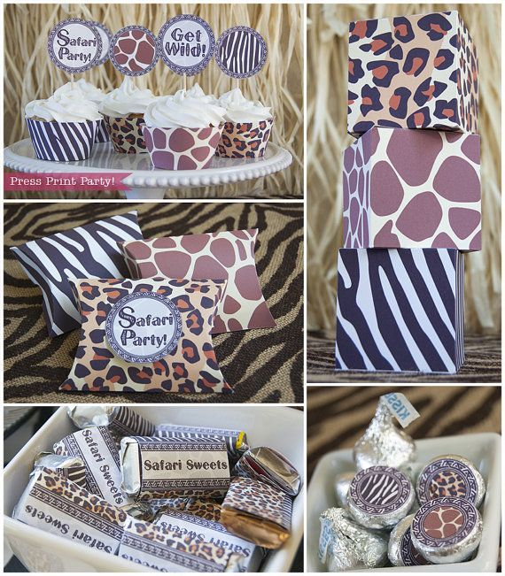 Get ready for a wild time with these fun safari animal print party printables. The giraffe, zebra, and cheetah prints, as well as the tribal style border and font, gives it a distinct African flair!  Great for any birthday or occasion for your favorite animal print lover. From invitation to thank you note, we've got you covered. You get more than 60 pages of printables!   Safari Party Printables Animal prints Party by PressPrintParty