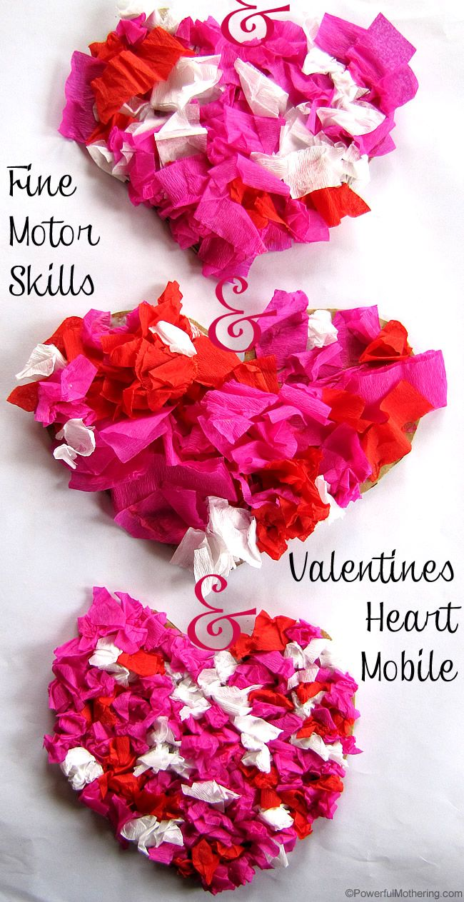 Valentine table decorations pinterest - Valentines Heart Mobile And Fine Motor Skills Practice Time