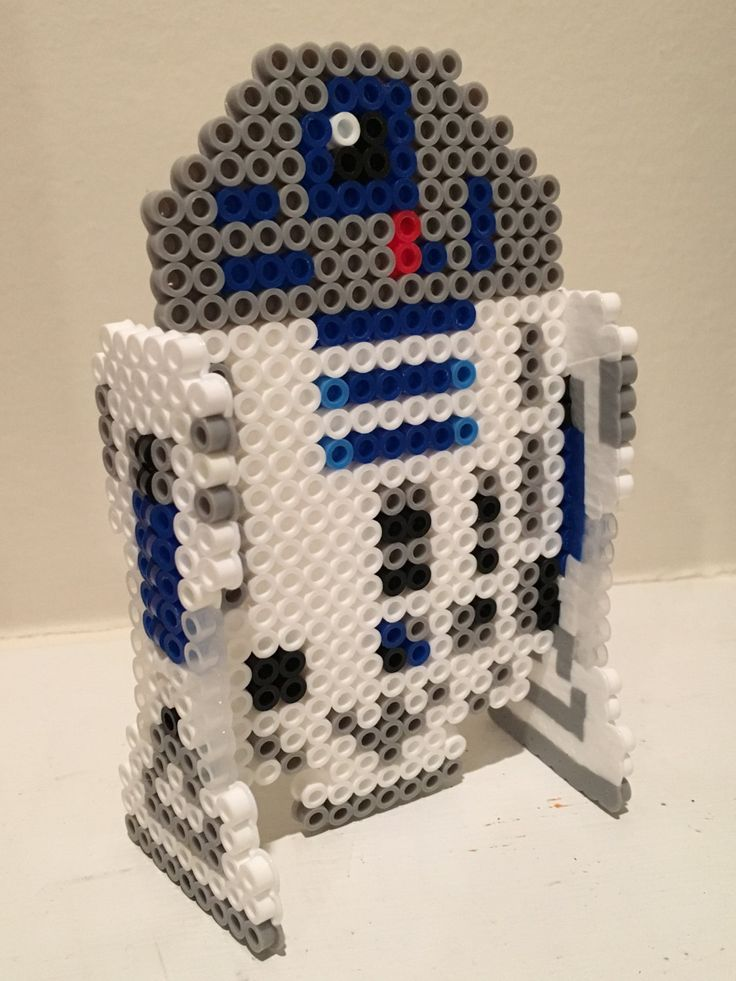 R2-D2 Star Wars perler beads by SickThingArt - Original pattern…