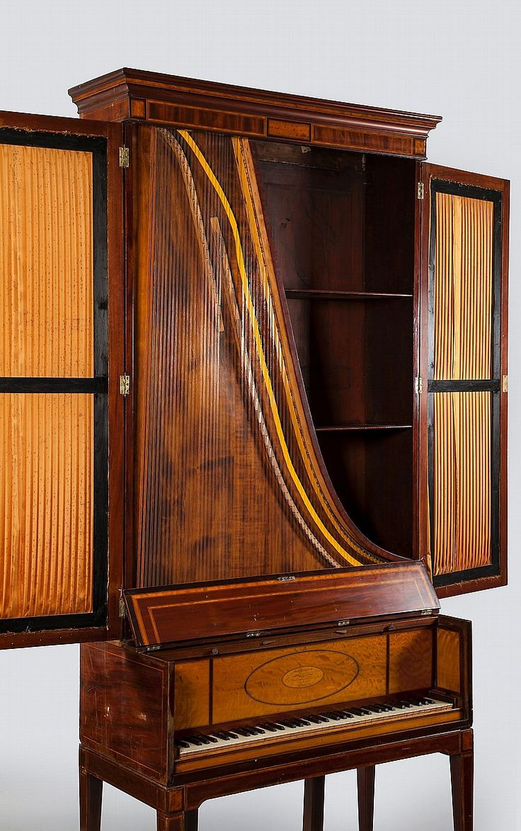 An upright grand piano harp by Jones, Round & Co