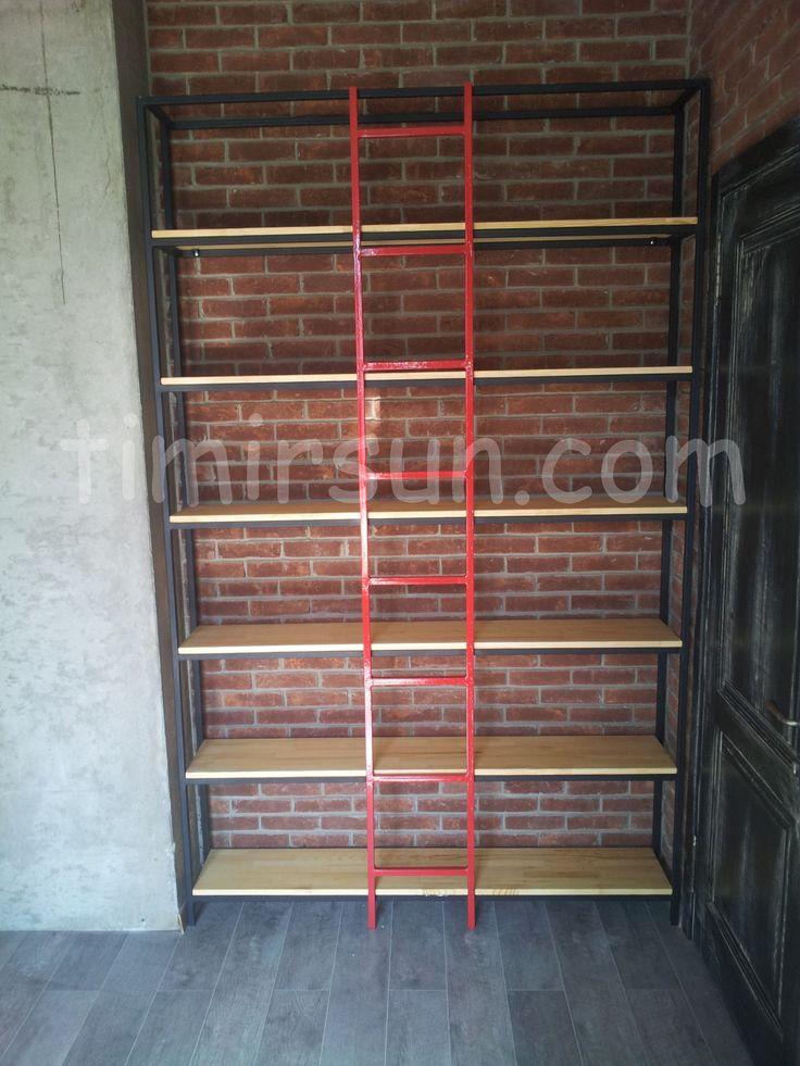 Книжный дизайнерский стеллаж с лестницей Stillage loft