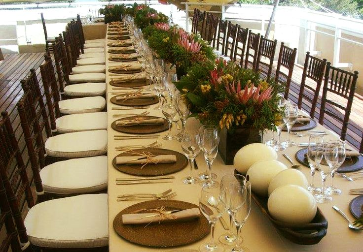"Get that ""down to earth"" look and feel by bringing nature straight to your table setting! #inspiredbynature #tabledecor #eventdecor #eventmanagement #westerncape #eventprofs #partydesigncape #throwbackthursday"