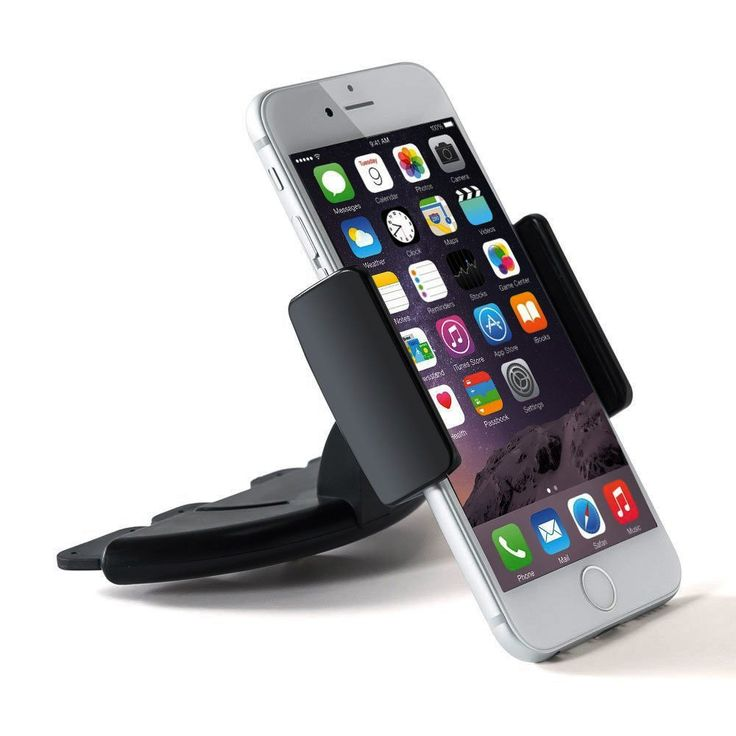 Amuoc Car Phone Holder CD Slot Mount Applicable to Mobile for 3.5-5.5""