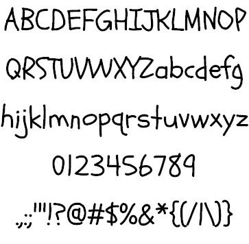 Image for Schoolbell font