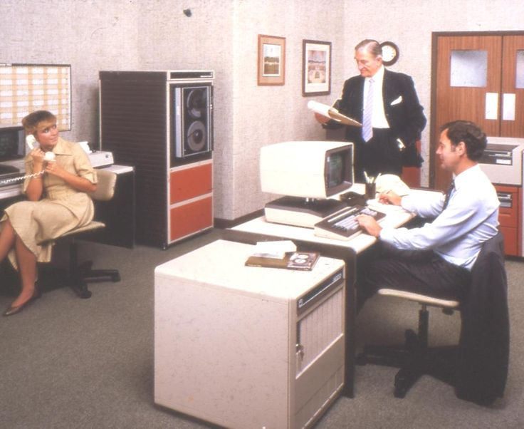 A #retro office, and office #equipment from the #1970s. Check out our website for more #modern looks, and #ideas. Questions? Give us a call. We can he