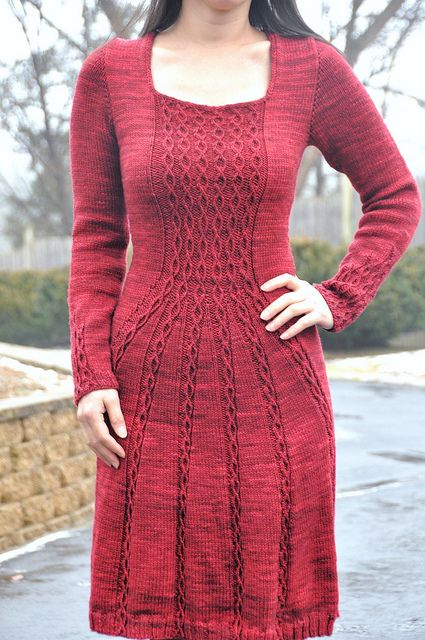 Knitting Pattern Cable Dress : 152 best images about Knit Skirts and Dresses on Pinterest