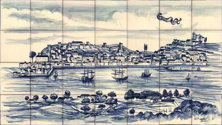 #azulejos #bateau réf: cerb_268_11_1 #mer #carrelage #tile #boat #sea #decoration #bleu #blue