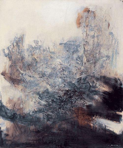 Zhao Wuji 赵无极 - 25.2.69. Oil on canvas, 65.7×54.3cm (1969)