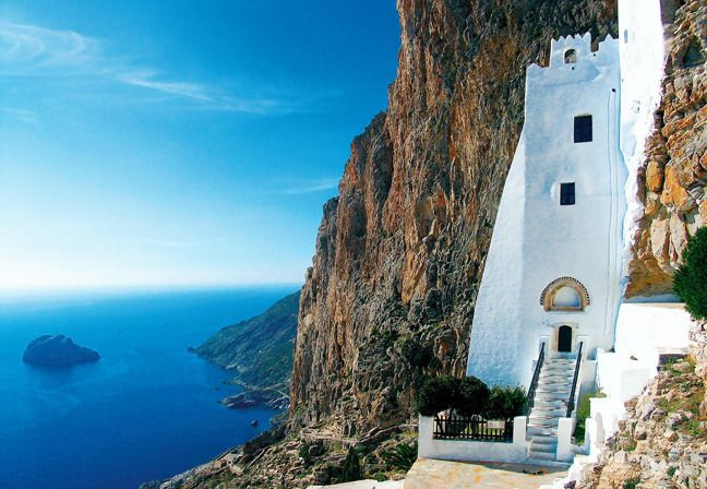 Panagia Hozoviotissa ,Amorgos island ,Greece
