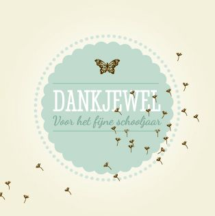 Dankjewel meester en juf kaartjes - made by Paper and June